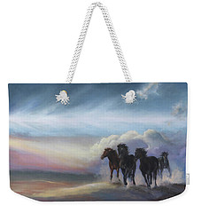 Last Run Of The Day Weekender Tote Bag by Karen Kennedy Chatham