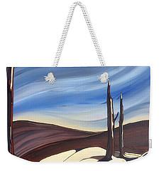 Last Snow Weekender Tote Bag by Pat Purdy