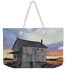 Weekender Tote Bag featuring the painting Last Stand by Andrew Danielsen