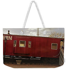 Weekender Tote Bag featuring the photograph Last Stop by Aaron Martens