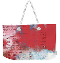 Last Train To Paris- Art By Linda Woods Weekender Tote Bag