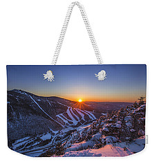 Last Winter Sunset Over Cannon Mountain Weekender Tote Bag