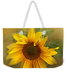 Last Years Sunflower Weekender Tote Bag