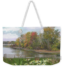 Lasting Autumn Flowers Weekender Tote Bag by Mary Timman