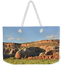 Weekender Tote Bag featuring the photograph Late Afternoon At Red Rocks by Debby Pueschel
