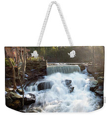 Weekender Tote Bag featuring the photograph Late Afternoon At The Duck Pond by Sue Collura