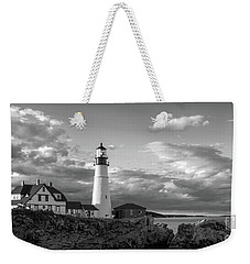 Late Afternoon Clouds, Portland Head Light  -98461 Weekender Tote Bag