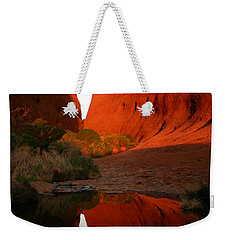 Weekender Tote Bag featuring the photograph Late Afternoon Light And Reflections At Kata Tjuta In The Northern Territory by Keiran Lusk