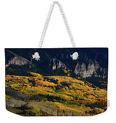 Late Afternoon Light On Aspen Groves At Silver Jack Colorado Weekender Tote Bag