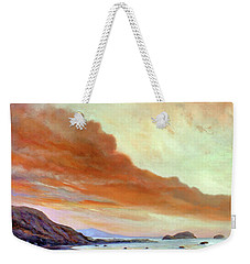 Late Afternoon On San Simeon Beach Weekender Tote Bag