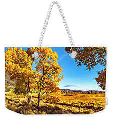 Late Autumn In The Carson Valley Weekender Tote Bag by Nancy Marie Ricketts