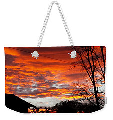 Late Autumn Sunset Weekender Tote Bag