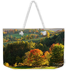 Late Day Fall Countryside Weekender Tote Bag