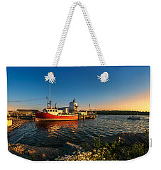 Late In The Day At Fisherman's Cove  Weekender Tote Bag by Ken Morris