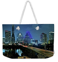 Late Night Above Austin Weekender Tote Bag