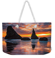 Weekender Tote Bag featuring the photograph Late Night Cloud Dance by Darren White
