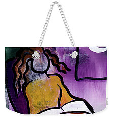 Late Night With Java Lady Weekender Tote Bag