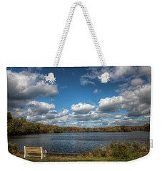 Late October, Belmont Lake Weekender Tote Bag