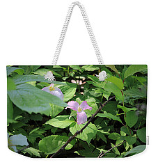 Late Season Trillium Weekender Tote Bag