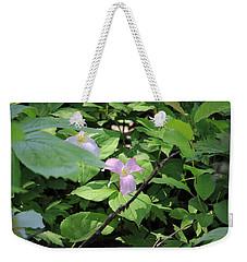 Weekender Tote Bag featuring the photograph Late Season Trillium by Rick Morgan