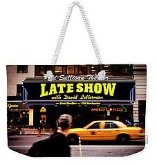 Late Show Weekender Tote Bag