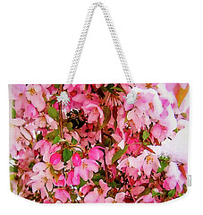 Late Snow Early Flowers Weekender Tote Bag
