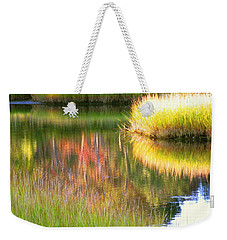 Stillness Of Late Summer Marsh  Weekender Tote Bag