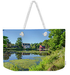 Late Summer - The Red Mill  On The Raritan River - Clinton New J Weekender Tote Bag by Bill Cannon