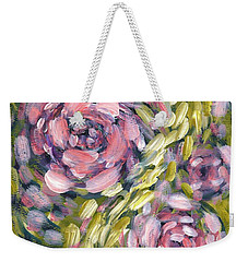 Weekender Tote Bag featuring the digital art Late Summer Whirl by Holly Carmichael