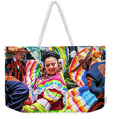 Weekender Tote Bag featuring the photograph Latino Street Festival Dancers by Robert Bellomy