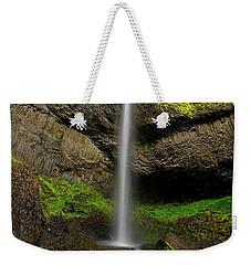 Weekender Tote Bag featuring the photograph Latourell Falls by Jonathan Davison