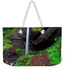 Weekender Tote Bag featuring the photograph Latourell Falls Oregon by Jonathan Davison