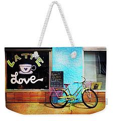 Latte Love Bicycle Weekender Tote Bag