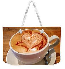 Latte Love Weekender Tote Bag by Susan Garren