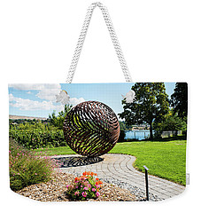 Latticed Iron Ball With Shadow Weekender Tote Bag