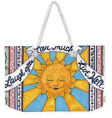 Laugh Love Live Weekender Tote Bag