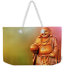 Laughing Buddha Weekender Tote Bag by Charuhas Images
