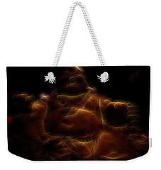 Laughing Buddha Light Weekender Tote Bag by William Horden