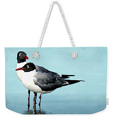 Weekender Tote Bag featuring the photograph Laughing Gulls Tranquil Moment by Barbara Chichester