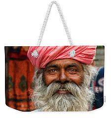 Laughing Indian Man In Turban Weekender Tote Bag