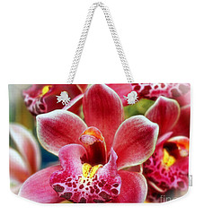 Laughing Orchids Weekender Tote Bag by Sue Melvin