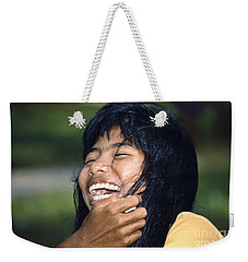 Weekender Tote Bag featuring the photograph Laughing Out Loud by Heiko Koehrer-Wagner