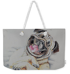 Laughing Pug Weekender Tote Bag
