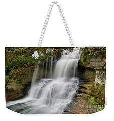 Laughing Whitefish Falls Weekender Tote Bag by Rachel Cohen