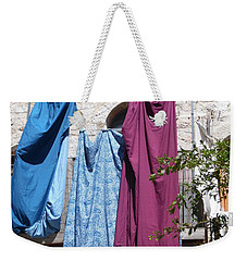 Laundry Art Weekender Tote Bag by Esther Newman-Cohen