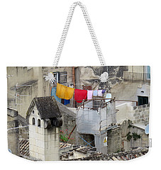 Laundry Day In Matera.italy Weekender Tote Bag