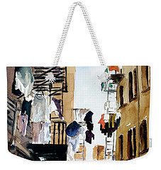 Laundry Day Weekender Tote Bag by Tom Simmons
