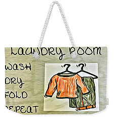 Laundry Room Weekender Tote Bag