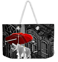 Laundry With Red Umbrella In Porto - Portugal Weekender Tote Bag