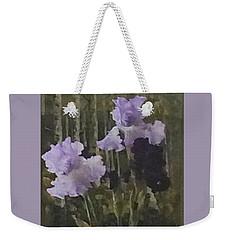Laura's Irises Weekender Tote Bag by Brenda Pressnall